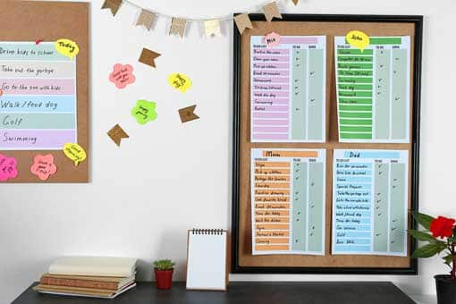Family Schedule - Helping Visual Learners at Home